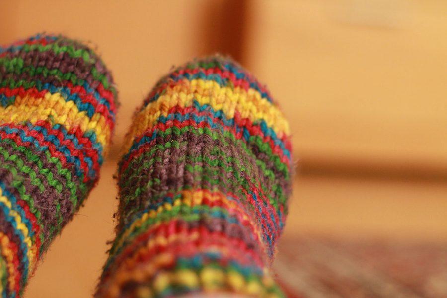 Strick Socken Bunt