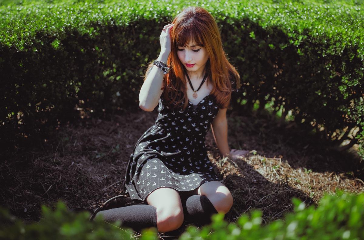 kleid koreanerin make up